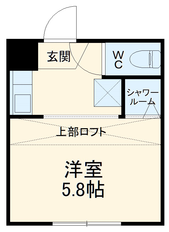 REAL BLOSSOM Ⅱ芝田・206号室の間取り