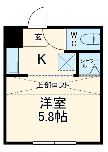 REAL BLOSSOM Ⅱ芝田・208号室の間取り
