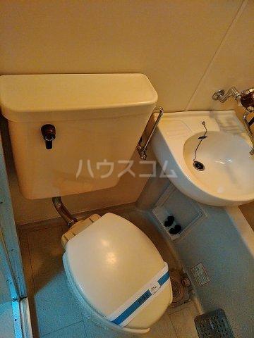 レオパレス植田第3 102号室のトイレ