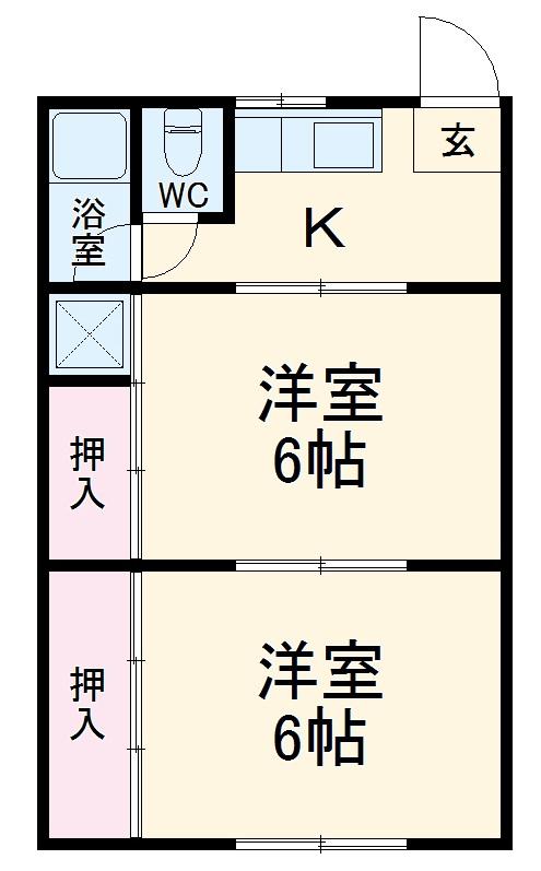 小古曽コーポ久志本・104号室の間取り