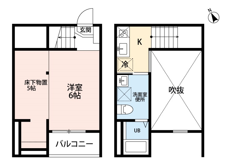 Blossom Meiji・102号室の間取り