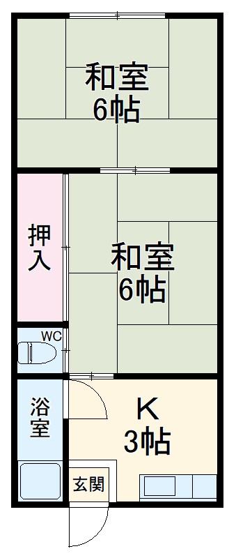 中島荘・205号室の間取り