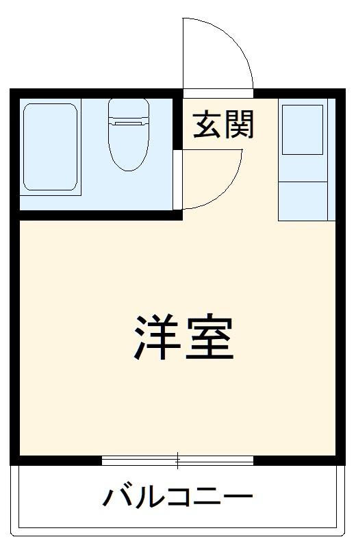 メゾンリッシュ幕張・202号室の間取り