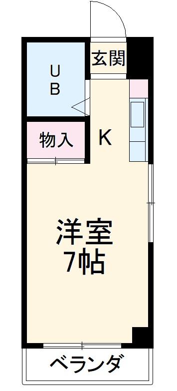 小澤マンション・405号室の間取り