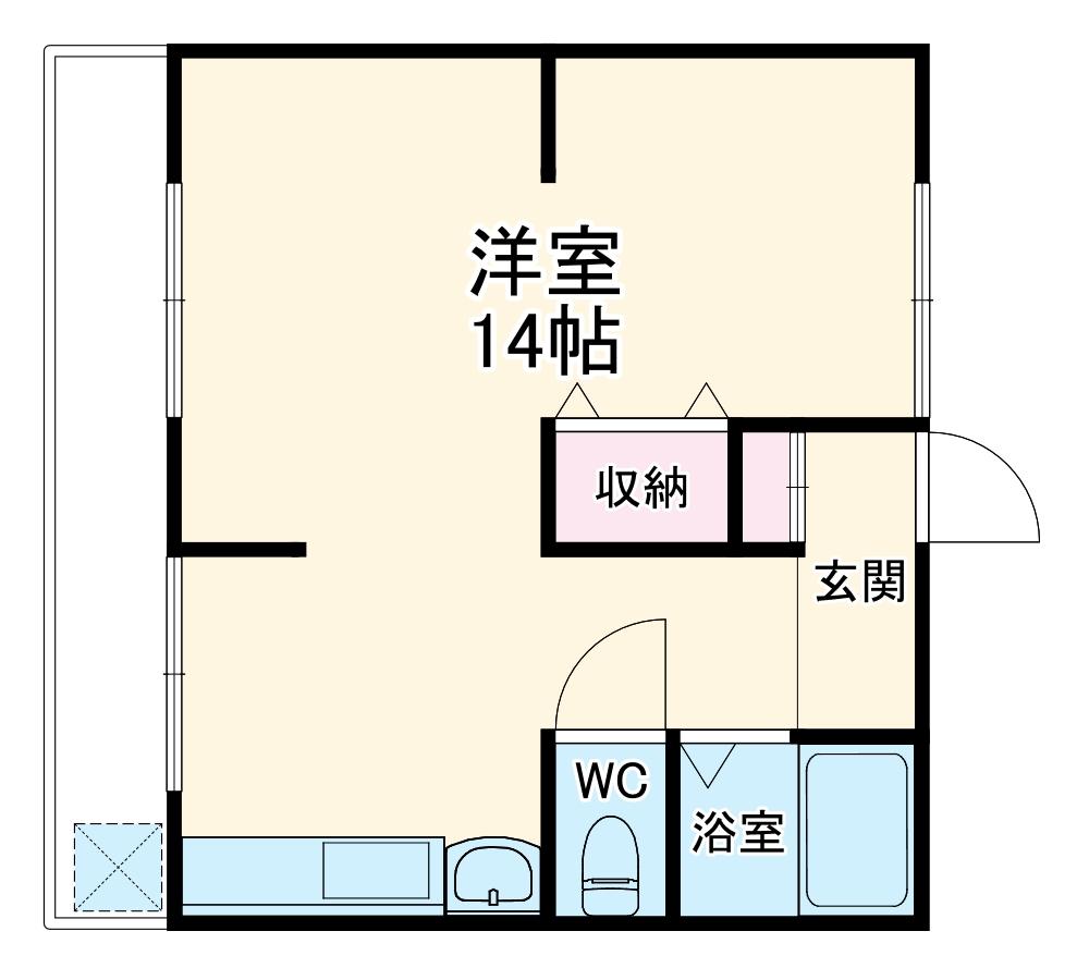 コーポ宏東B・301号室の間取り