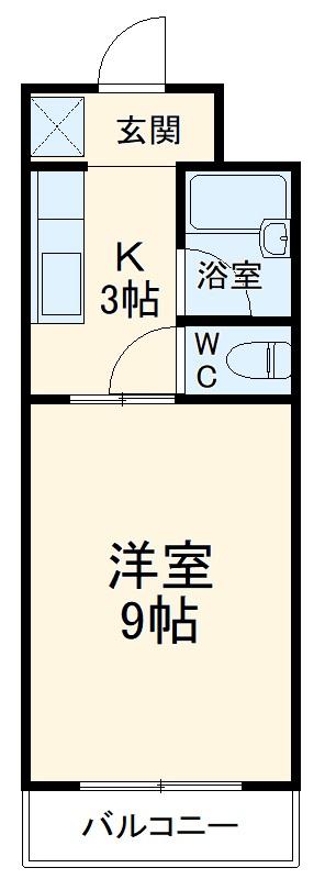 ハイツ天竜Ⅱ 302号室の間取り