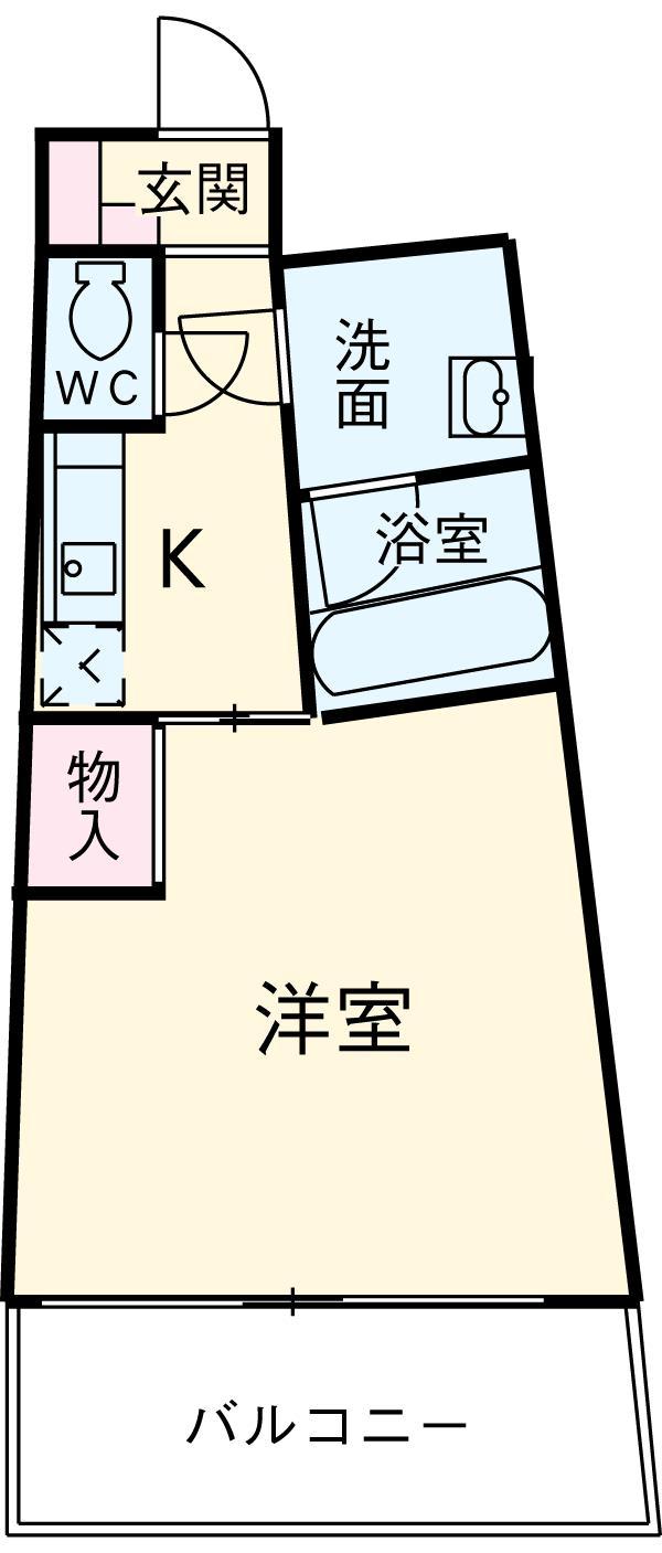 カーサヨサミ・301号室の間取り