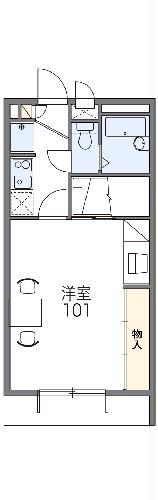 レオパレスゼスト西成田・103号室の間取り
