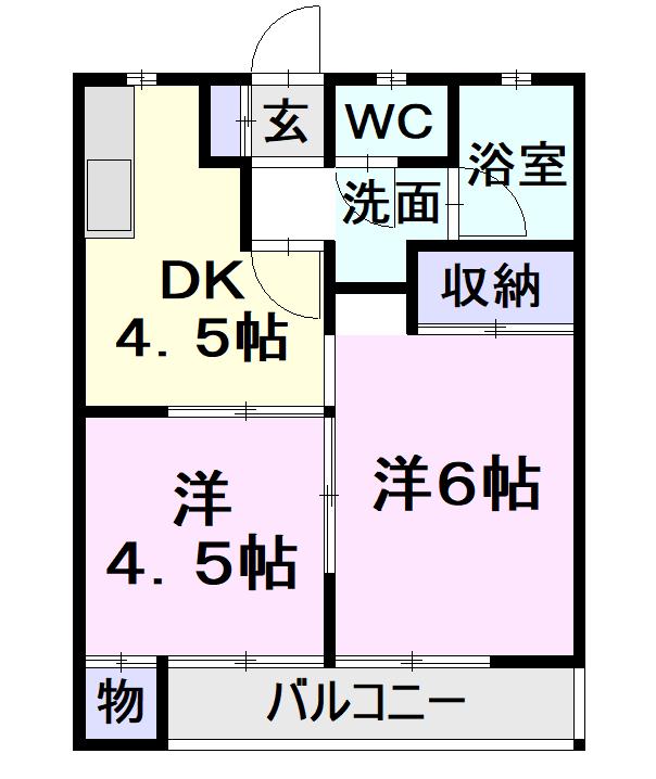 マンション草薙・4D号室の間取り