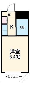 ドール東海通 601号室の間取り