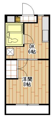 コーポ石塚Ⅲ・302号室の間取り