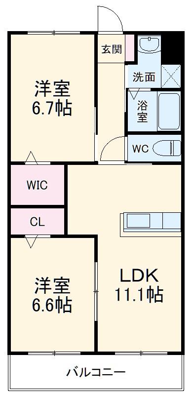 サンシャインユタカⅡ 103号室の間取り