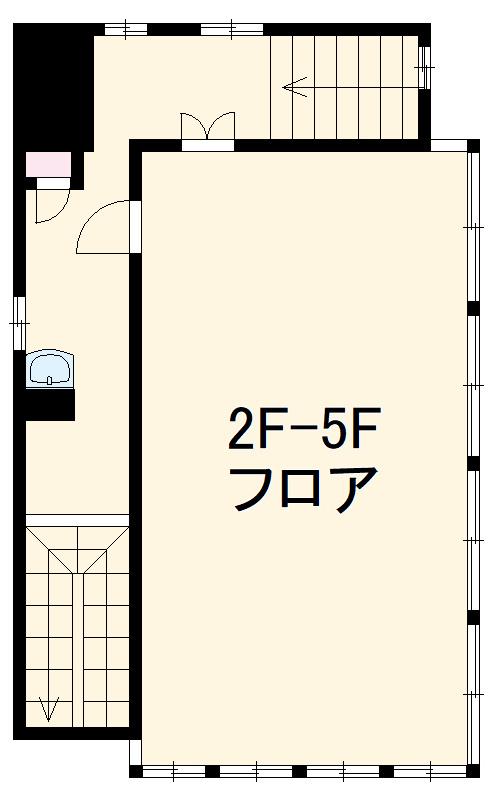 横芝駅前ビル・5F号室の間取り