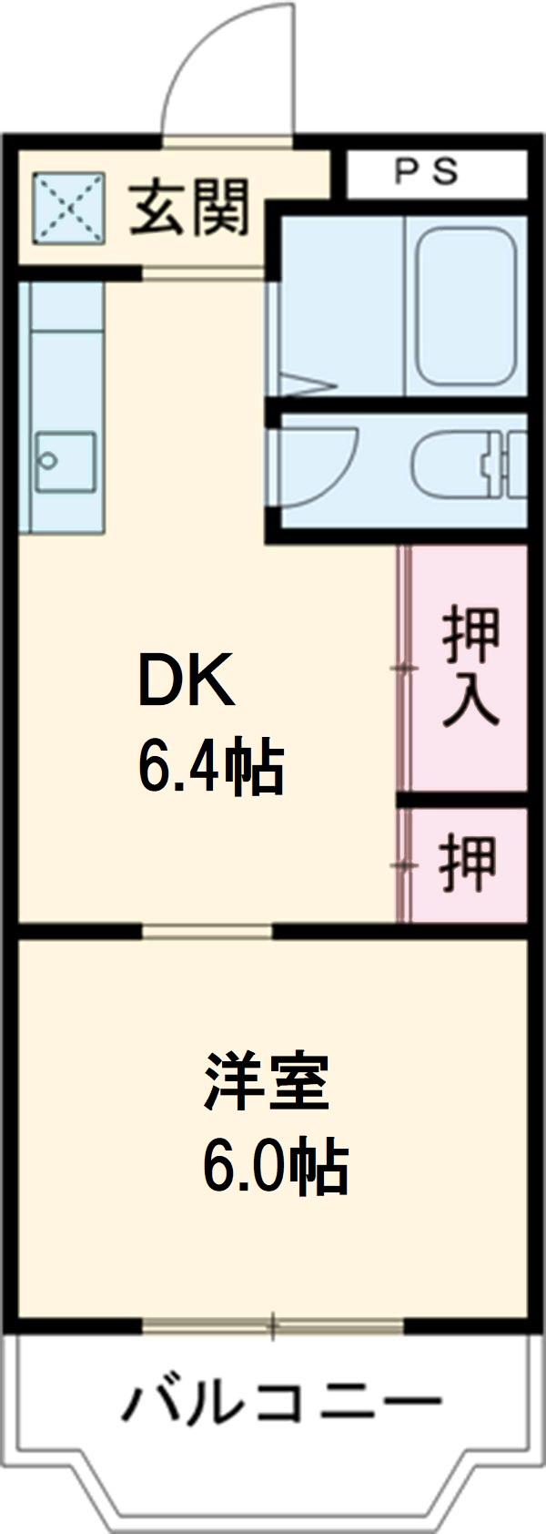 グレイス第1マンション 505号室の間取り