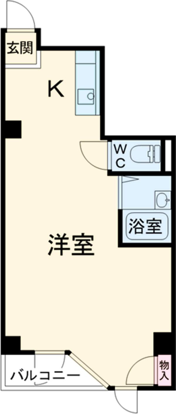 Dビル・4-A号室の間取り