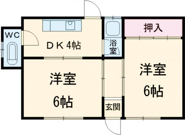 第2富士荘・1号室の間取り