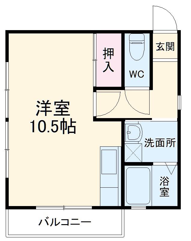 齋藤アパート 1号室の間取り