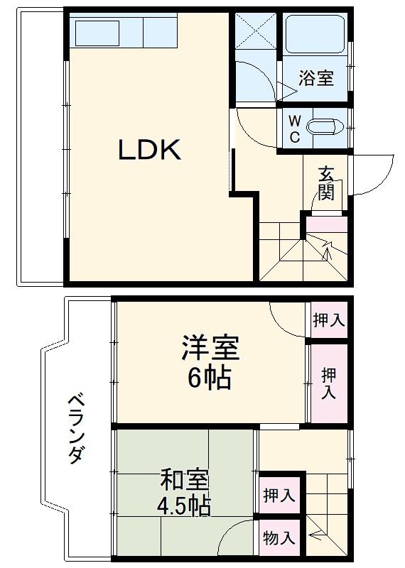 黒川コーポA・3号室の間取り
