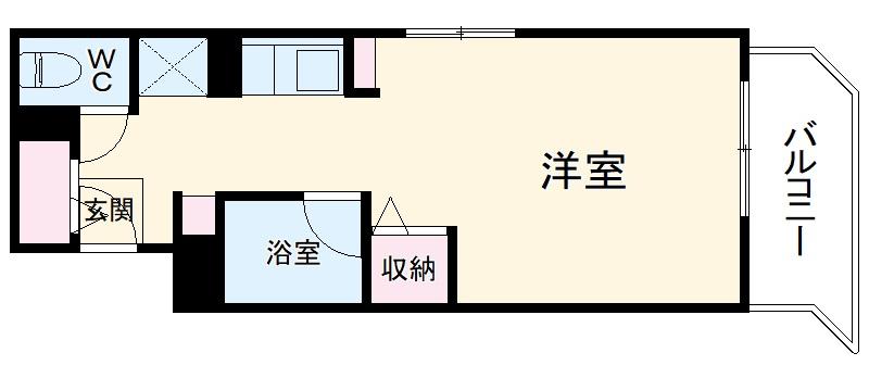 パソテイト覚王山 211号室の間取り