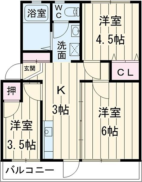 ひとみマンション・304号室の間取り
