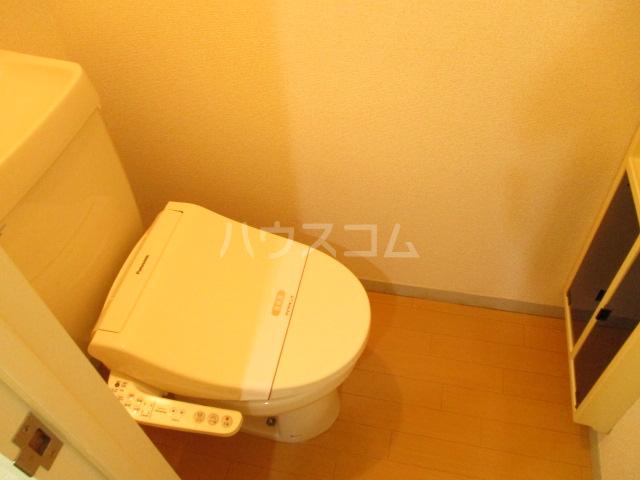 サンヴィラージュA・B A203号室のトイレ