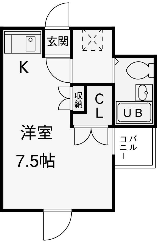 RX神宮前・302号室の間取り