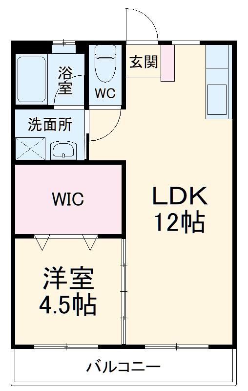 はりまマンション 305号室の間取り