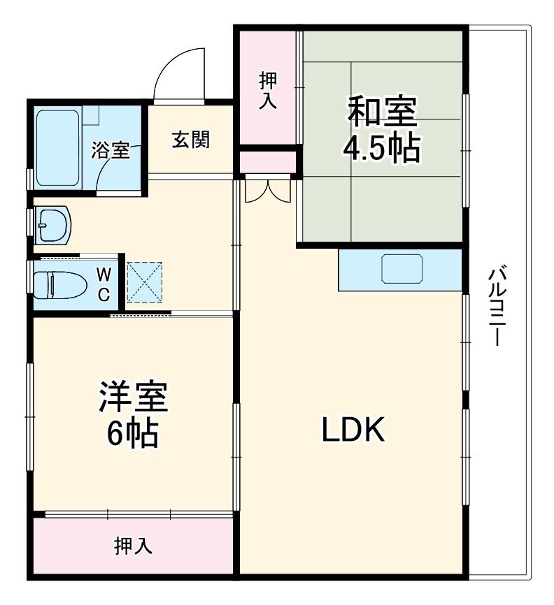 ビレッジハウス成田3号棟・407号室の間取り
