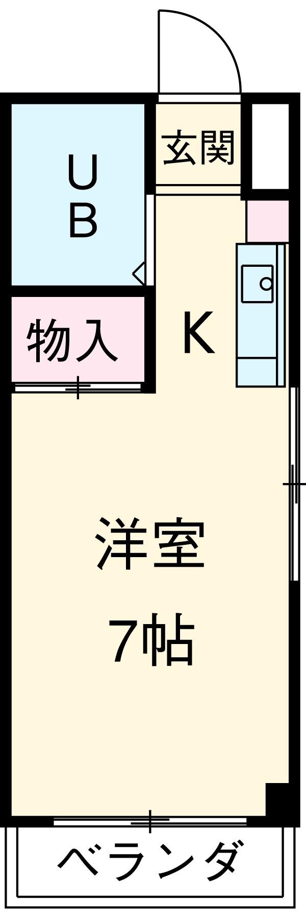 小澤マンション・402号室の間取り