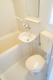 グリーンハウス 201号室の洗面所