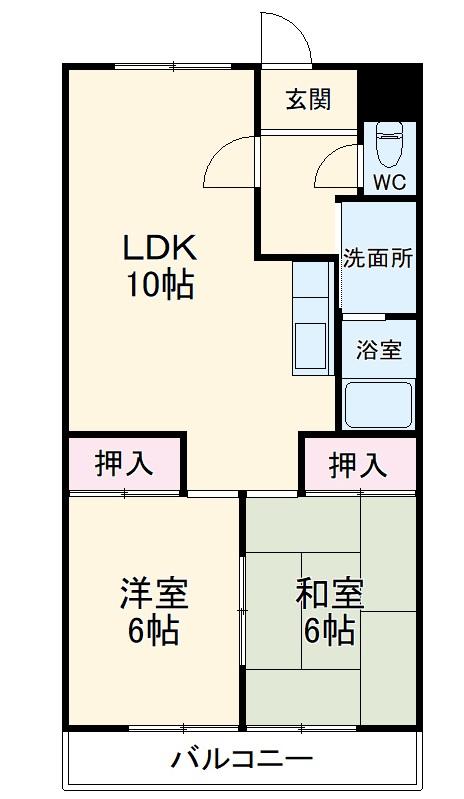 福洋マンション・SE4号室の間取り