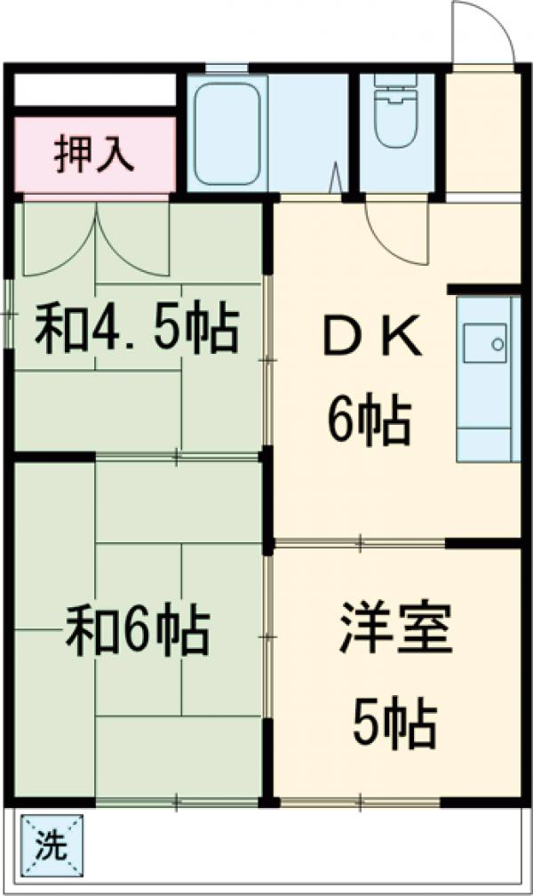 第一原マンション・205号室の間取り