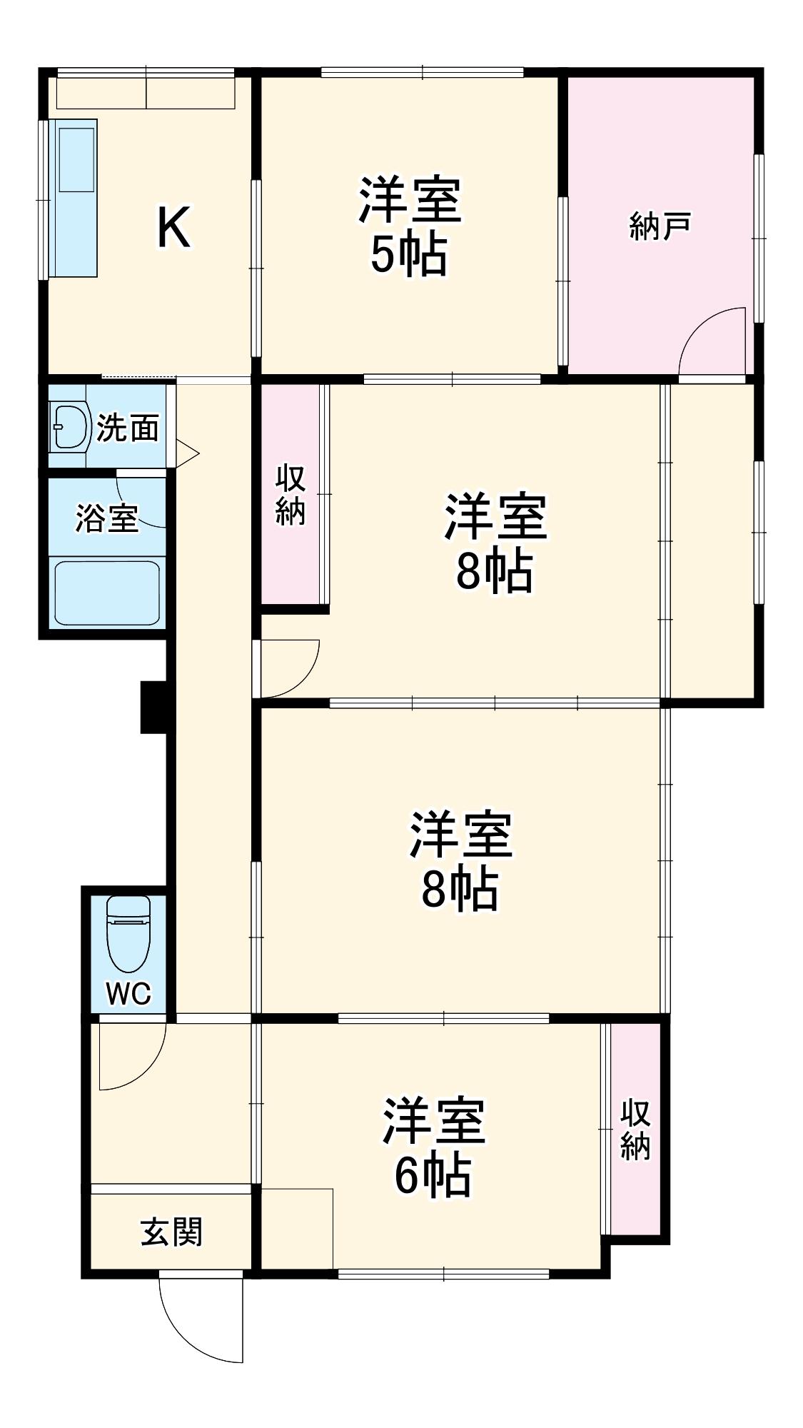 スペースハウス亀井・1号室の間取り