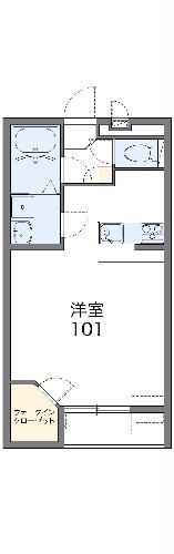 レオネクストデルフィⅡ・104号室の間取り