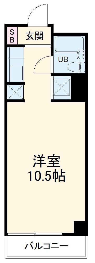 SEPT千葉ビル・6A号室の間取り