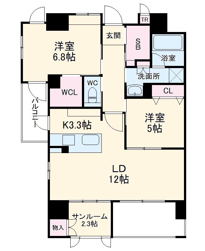 Grand Palace IKAI・501号室の間取り