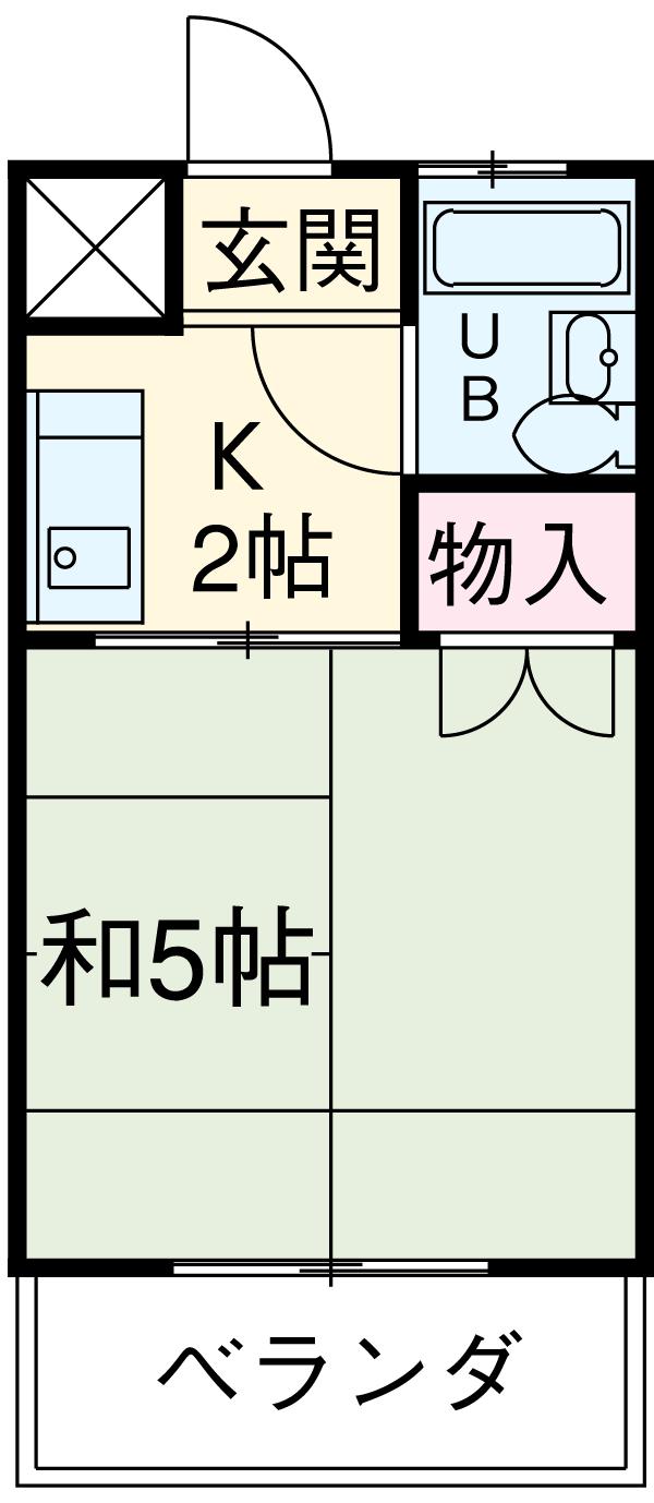 一ツ木マンション安井Ⅱ 207号室の間取り