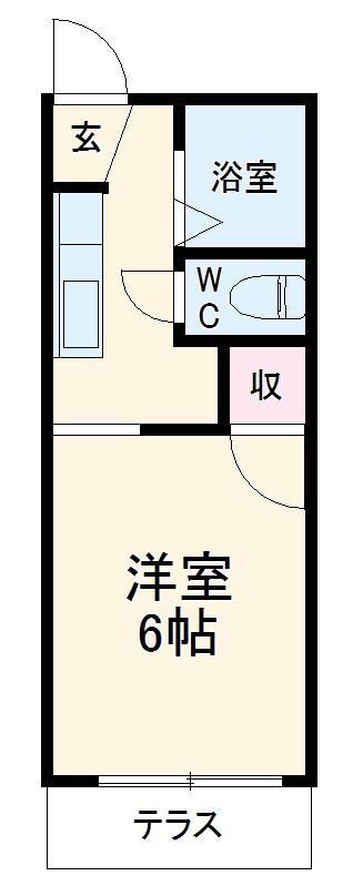 タウニーエコー・206号室の間取り