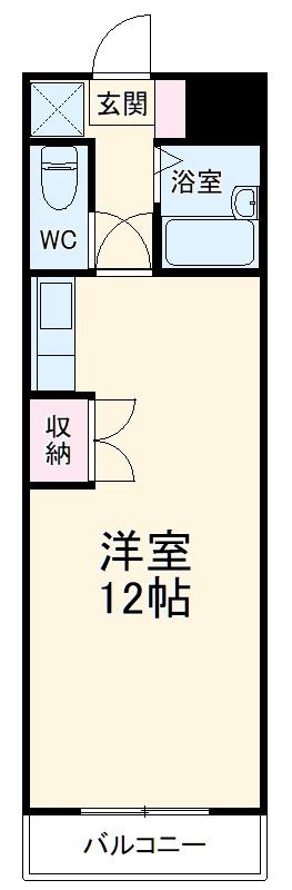 澤田ハイツ・201号室の間取り