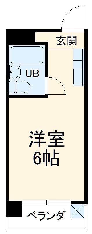 アメニティ植田・303号室の間取り