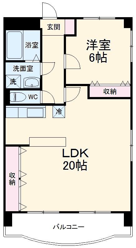クレール浜松Ⅰ 601号室の間取り