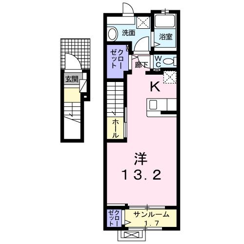 エスポワールヒロ-A 02030号室の間取り