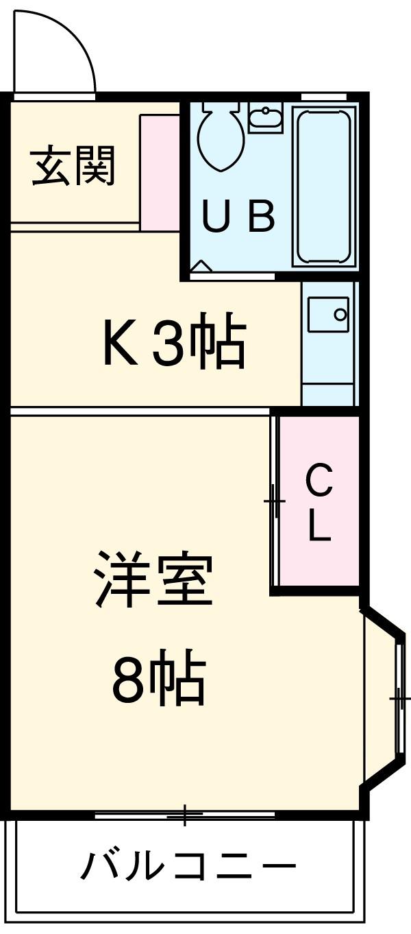 第2マンション久米 206号室の間取り