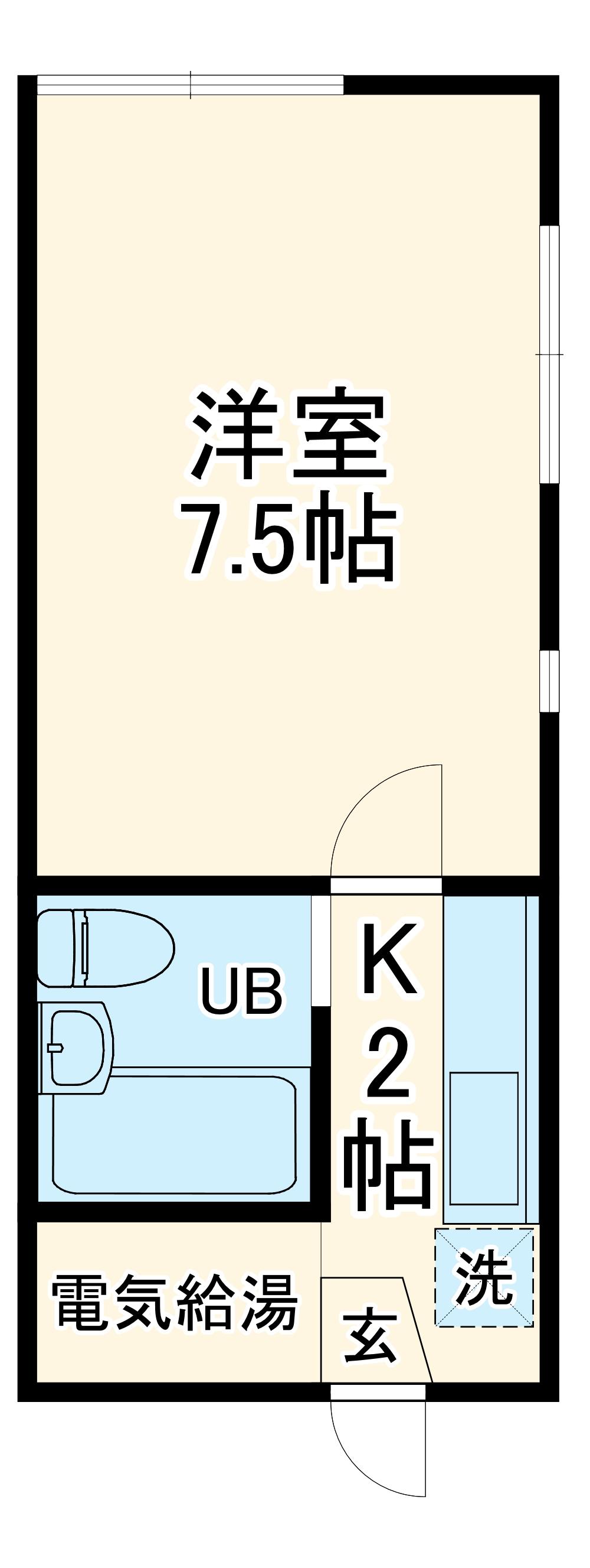 シーサイドビラ21A・205号室の間取り