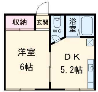 広栄荘2棟・223号室の間取り