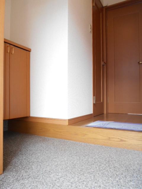 リナシメントA棟 203号室の玄関