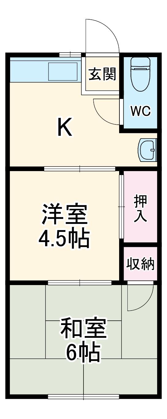 協和荘 201号室の間取り