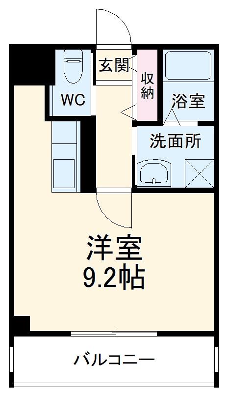 仮)舩野ビル・3B号室の間取り