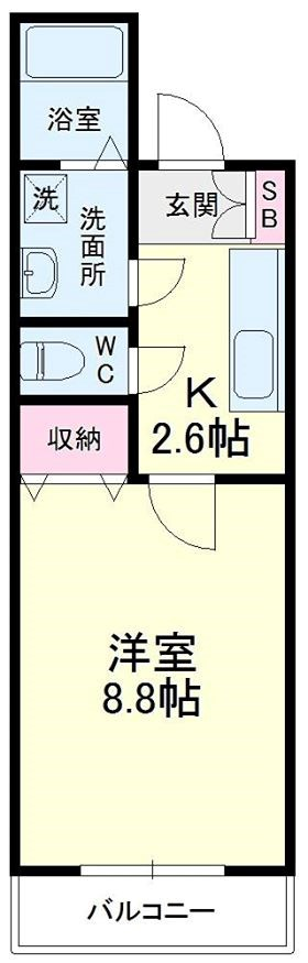 野中第6マンション 205号室の間取り