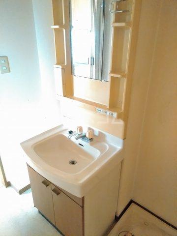 プリシェール 101号室の洗面所